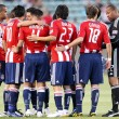 Chivas USA huddle before the start of the game - Stock Photo