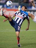 耶稣阿雷利亚诺在期间 interliga 2010 行动与匹配 — 图库照片