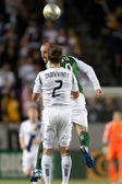 Kris Boyd and Todd Dunivant during the game — Stock Photo