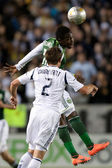 Kalif Alhassan and Todd Dunivant in action during the Major League Soccer game — Stock Photo
