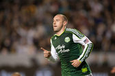 Kris Boyd celebrates a goal during the Major League Soccer game — Stock Photo