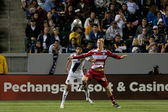 Brek shea und sean franklin während der major league soccer game — Stockfoto