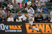 Angel Di Maria in action during the World Football Challenge game — Stock Photo