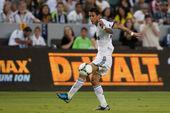 Angel di maria w akcji w świecie piłki nożnej wyzwanie gra — Zdjęcie stockowe