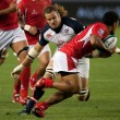 Rugby match between the USA Men's Eagles and Tonga at the StubHub Center — Stock Photo