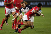 Rugby match between the USA Men's Eagles and Tonga at the StubHub Center — Stok fotoğraf