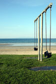 Seaside Swings — Stock Photo