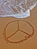 Wave & Peace sign — Stock Photo