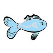 Fish emblem — Stock Vector