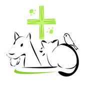 Veterinary clinic emblem — Stock Vector