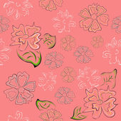Seamless pattern. Flowers background — Stock Vector