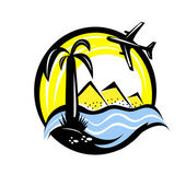 Travel vacation emblem — Stock Vector