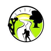 Tourism emblem — Stock Vector
