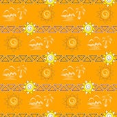 Simless pattern. Summer background — Stock Vector