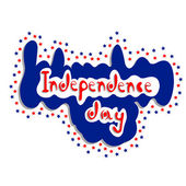 Independence Day - 4 July sign — Stock Vector