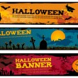 Halloween banners. — Stock Vector