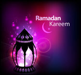 Ramazan kareem tebrik kartı — Stok Vektör
