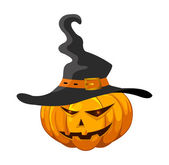 Halloween pumpkin with hat — Stock Vector