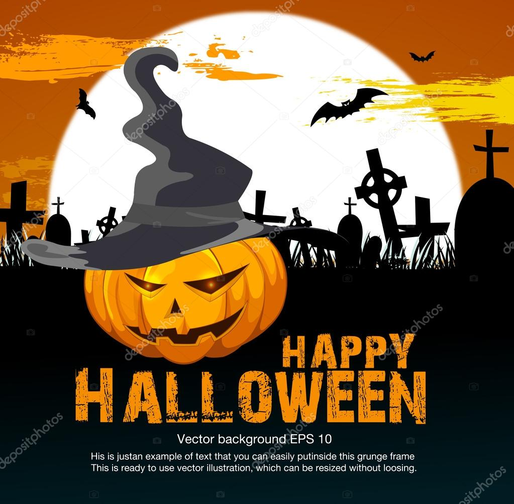 Halloween party poster — Stock Vector © banditka #31261175