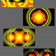 Set of fire backgrounds for visiting cards — 图库矢量图片 #15500249