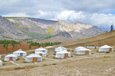 Yourt camp in the nature reserve Terelj, Mongolia — Stock Photo