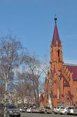 Roman Catholic Polish church for the love of Blessed Virgin Mary assumption — Stock Photo