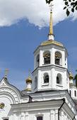 The bell tower of Michael-Archangelical Harlampievsky temple Irkutsk — Stock Photo