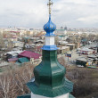 City view from the bell tower of the Holy Cross church. Irkutsk — Stock Photo