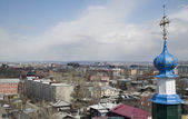 Město pohled ze zvonice církve svaté kříže. irkutsk — Stock fotografie