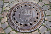 Prague. Manhole on the pedestrian street — Stock Photo