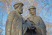 記念碑の祝福イルクーツクの王子ピョートルと王女 fevronia ムロム — ストック写真