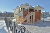 Two-story wooden house with a ladder Irkutsk — Stock Photo
