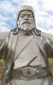 Statue of Genghis Khan in the memorial complex Golden Whip in Mongolia — Stock Photo