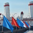 "Stock Photo: Bridge with flags and entrance to icebreaker ""Angara"""