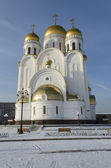 Church of the Nativity (Christmas Church) in the city of Krasnoyarsk — Stock Photo