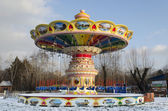 Tom karusell i parken i vinter. krasnoyarsk — Stockfoto