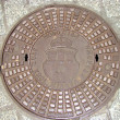 Manhole in Krakow. Poland — Stock Photo