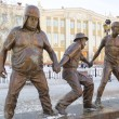 Постер, плакат: A scene from the film Caucasian Captive Coward Experienced and Goony Monument in Irkutsk
