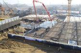 The construction of big complex in Irkutsk — Stock Photo