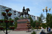 The monument to Marshal Georgy Zhukov in Irkutsk — Stockfoto