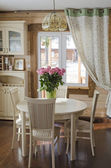 Dining room interior in country house. Country style — Stock Photo