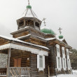 Wooden Church of the Kazan Icon of the Mother of God in Taltsy village — Stock Photo #44103603
