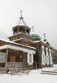 деревянная церковь казанской иконы божией матери в селе тальцы — Стоковое фото