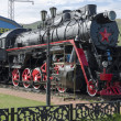 Memorial steam locomotive L-4046, the depot Sludyanka, Russia, Irkutsk region — Stock Photo #47863355