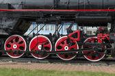 Equipment Undercarriage of the locomotive monument L-4046, the depot Sludyanka, Russia — Stockfoto