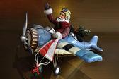 Flying Santa — Stock Photo