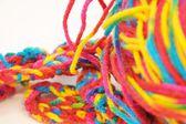Multi coloured yarn — Stock Photo