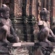 Bayon, famous buddhist temple in Angkor Thom — Stock Video