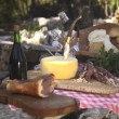 Stock Video: Typical Italifood with ham, cheese, salami and wine