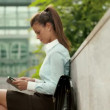 Businesswoman with tablet — Stock Video